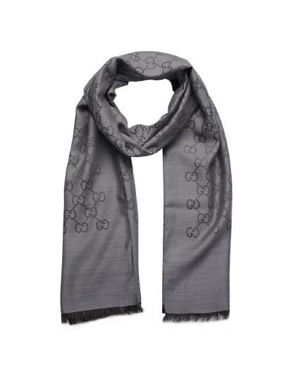 GUCCI 女士时尚优雅 羊毛加丝绸 高贵围巾