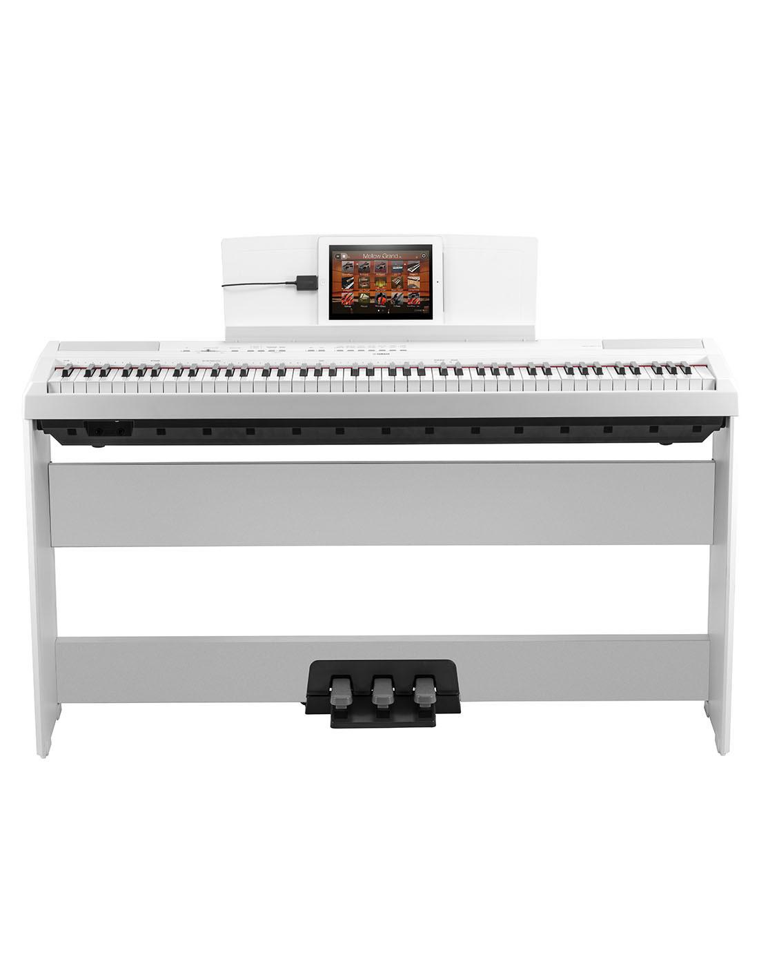雅马哈电钢琴p115白色88键重锤便携式全国联保全套包装图片