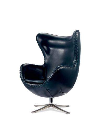 fin设计师雅各布森黑色高背穿绳转椅