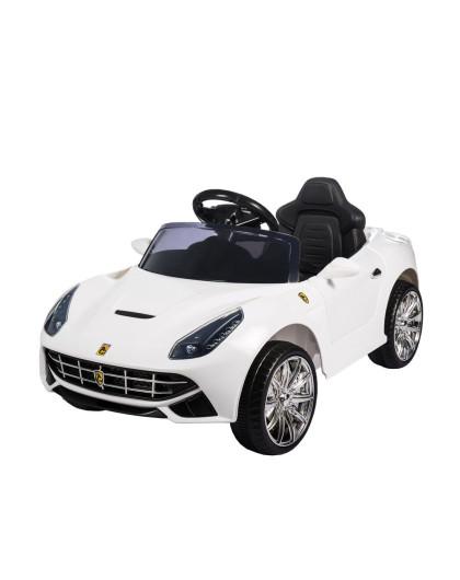 福儿宝法拉利带摇摆儿童电动车白色