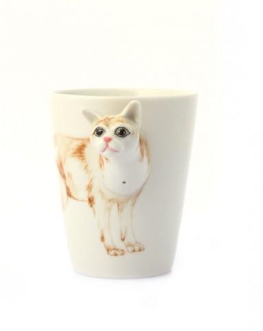 趣玩创意(缅甸猫)纯手绘陶瓷动物杯433460