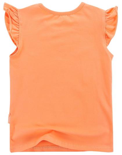 女童浅橙粉色气球短袖t恤