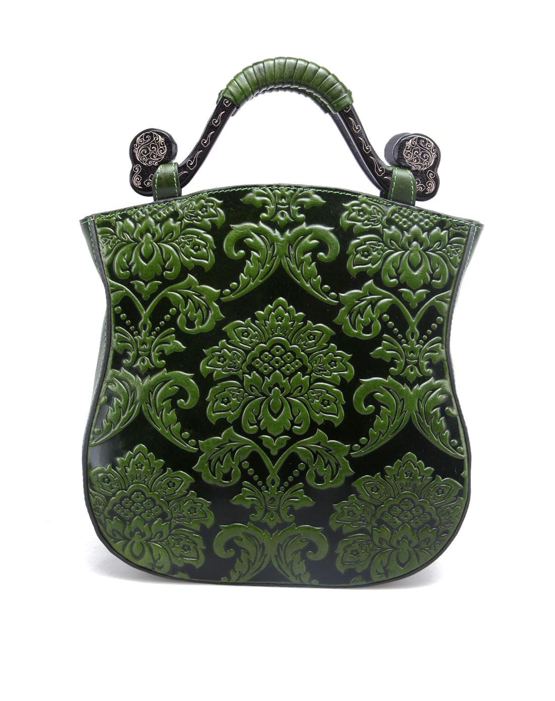 包墨绿色欧式花