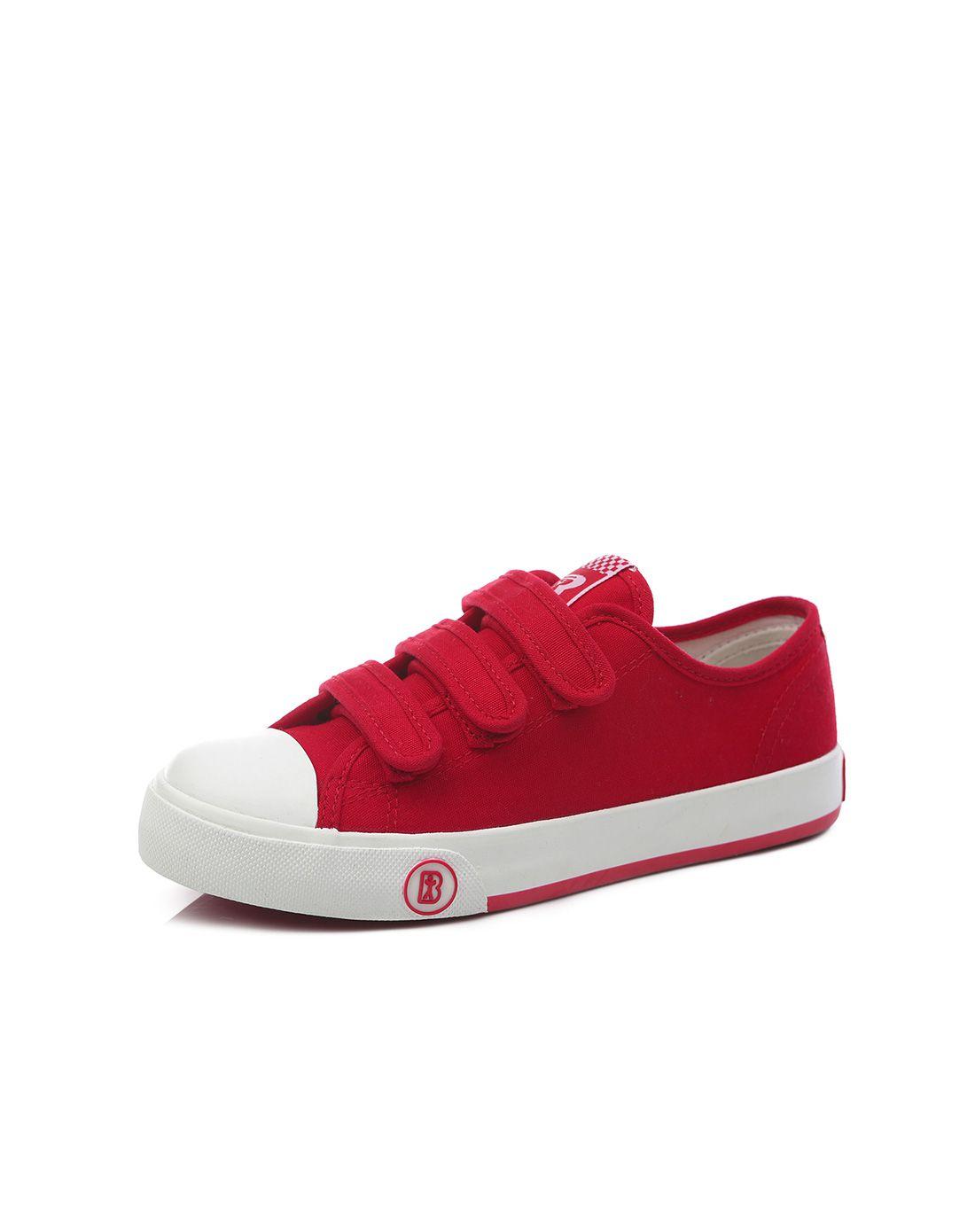 红色帆布鞋魔术贴