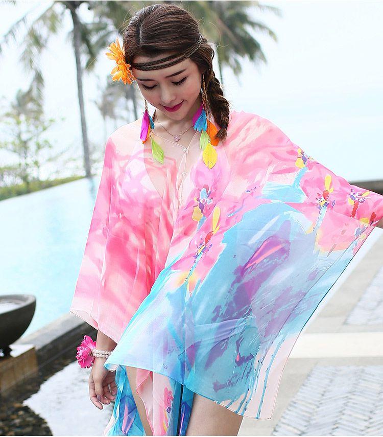 hondar 时尚印花沙滩披巾