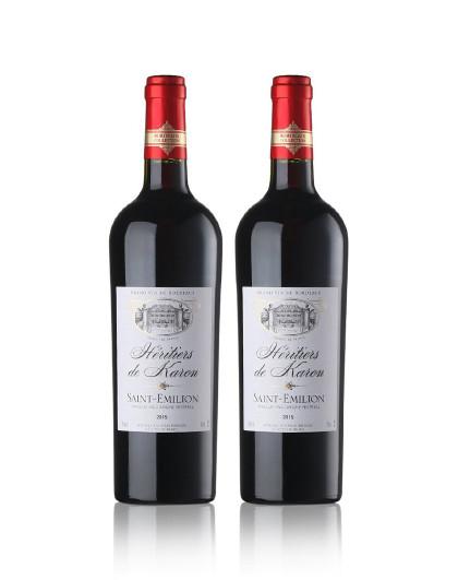 干红葡萄酒双支礼盒装