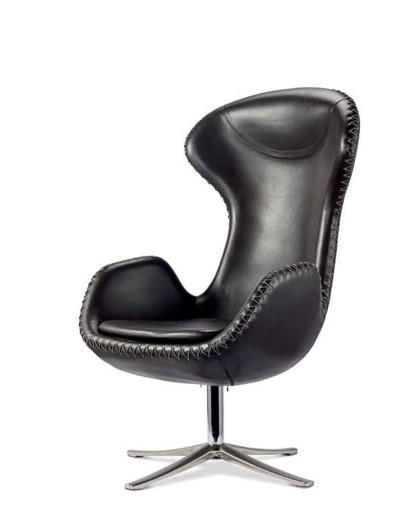 fin设计师雅各布森穿绳皮转椅