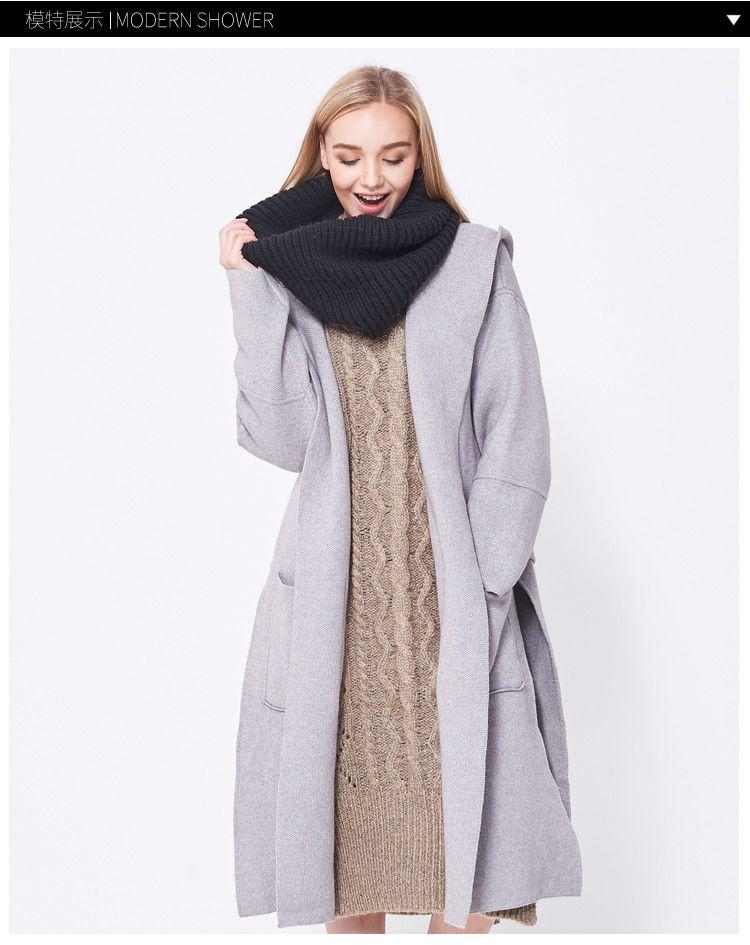 气质极简针织外套
