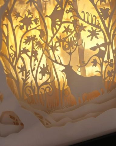 趣玩创意趣生活专场(梦幻森林)立体风景纸雕装饰画小