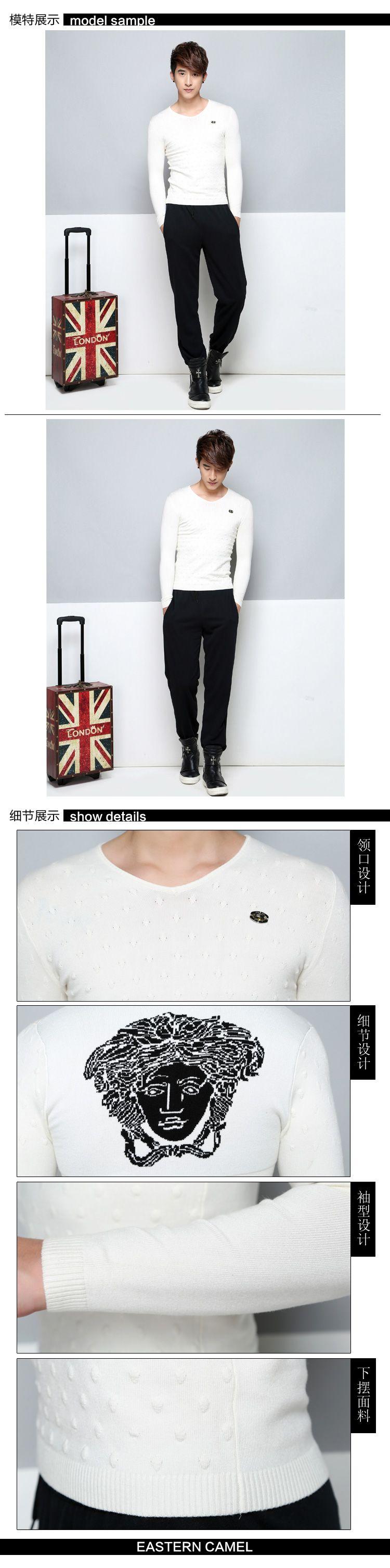 东方骆驼 商品名称: v领纯色毛衣 商品分类: 男式毛衣 产地: 中国 材