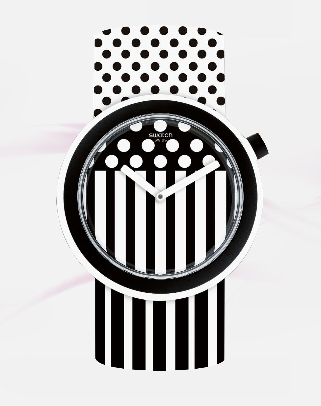 swatch 【新品】pop系列黑白波普设计石英女表