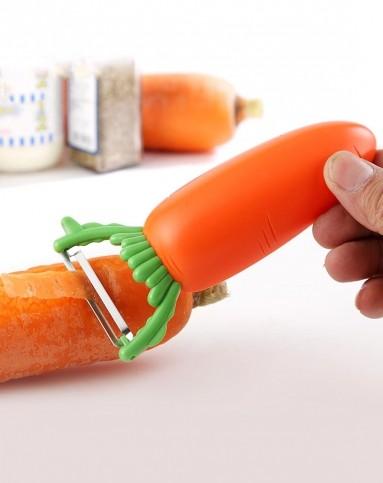 趣玩创意胡萝卜造型削皮刀开瓶器二合一f56350