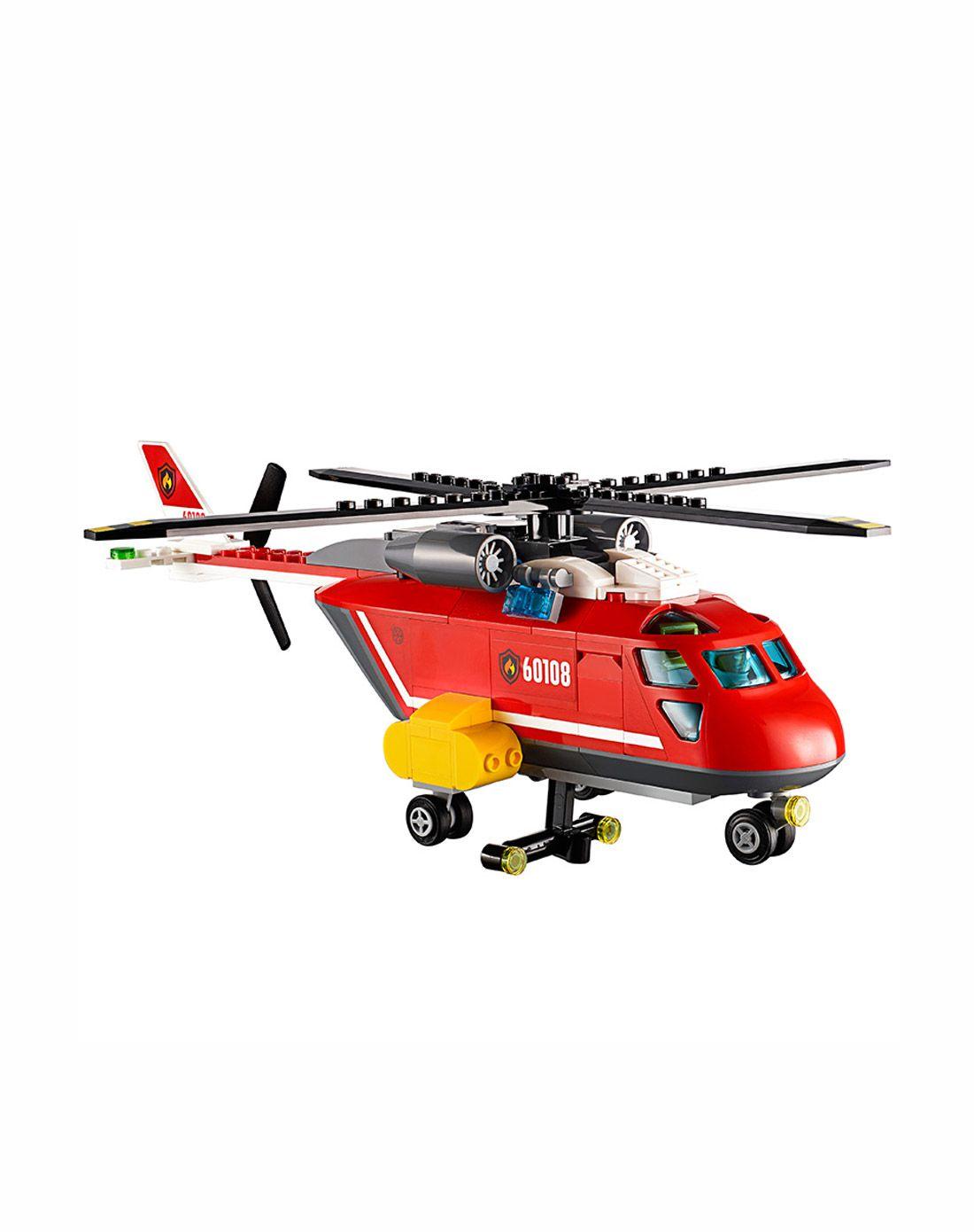乐高消防直升机组合