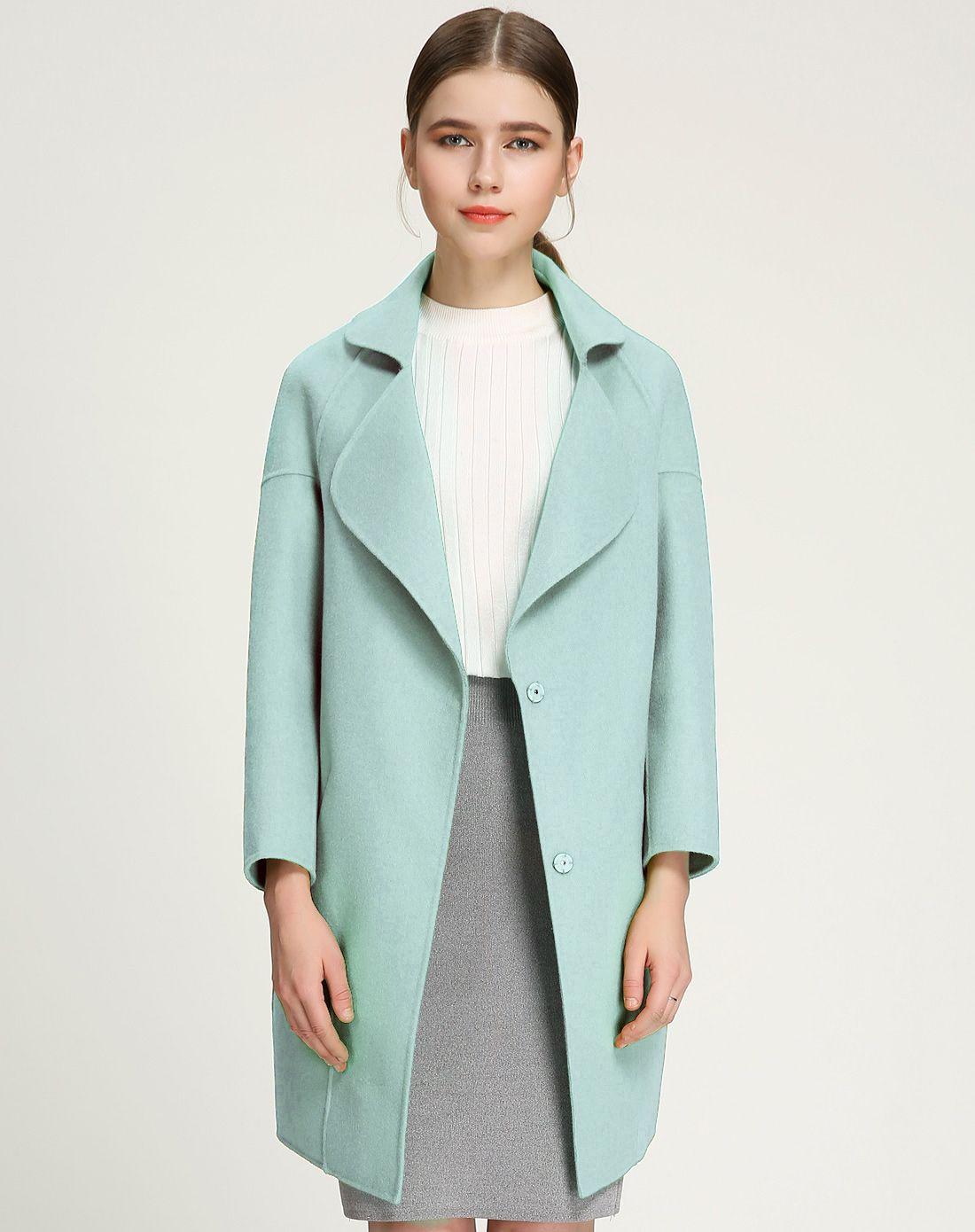 羊毛双面呢大衣