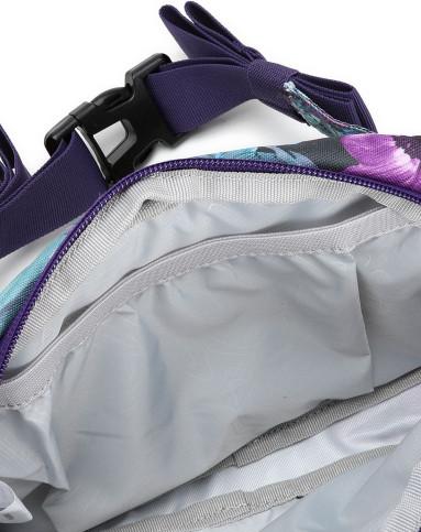 夏日印花 中性款蓝紫配深蓝色腰包 旅行系列