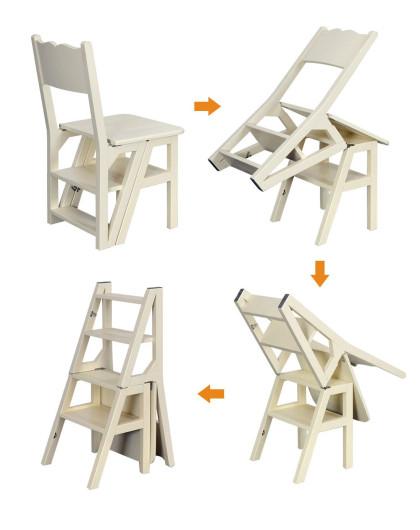 桦木梯椅 创意家居