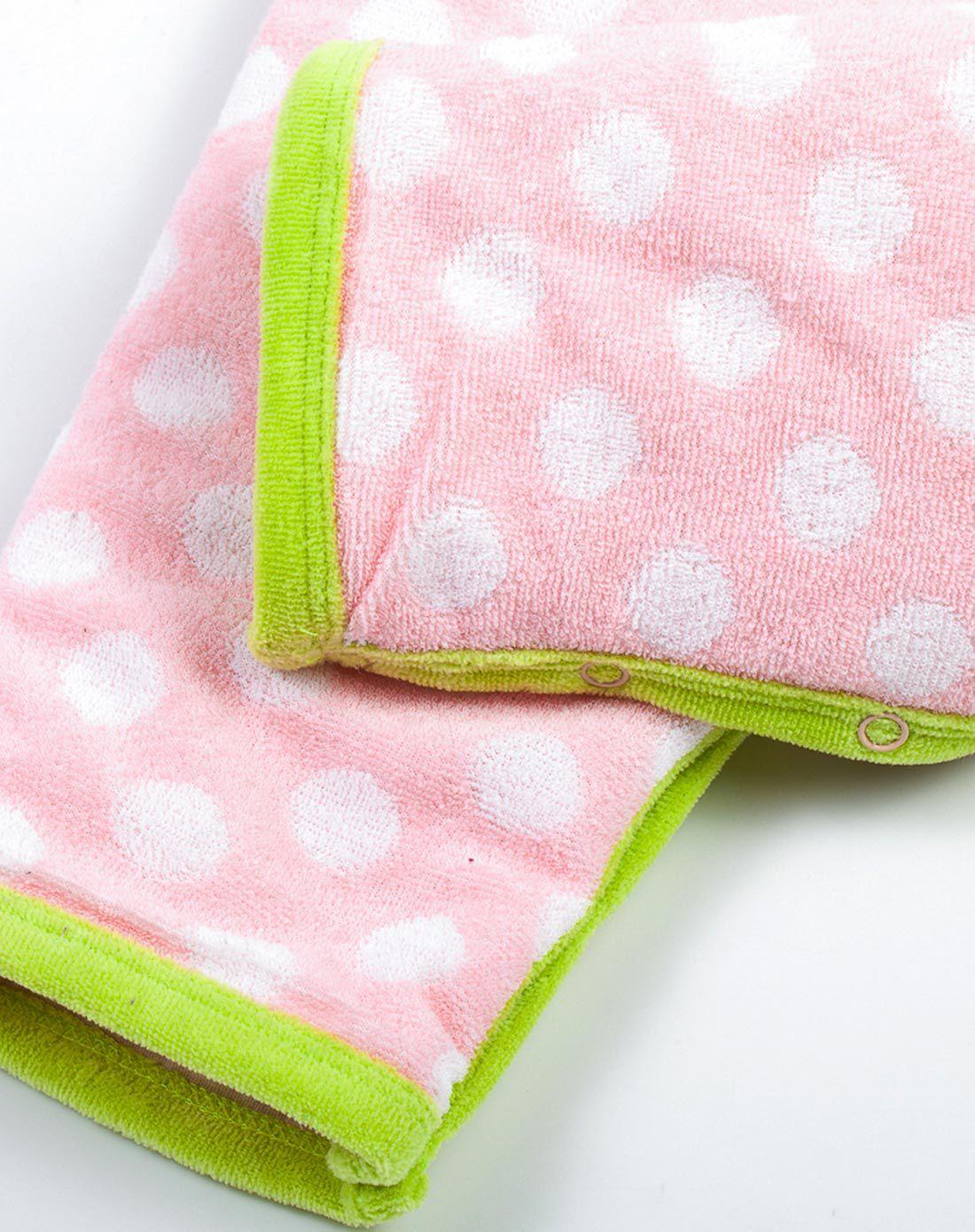 粉色微笑小羊加厚连体衣