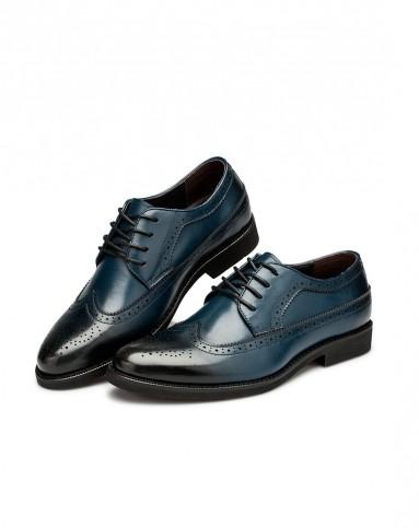 男士布洛克皮鞋图片