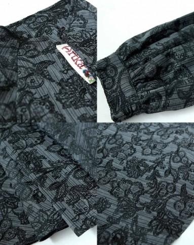 artka灯笼袖系带收腰显瘦欧式风衣a0166199