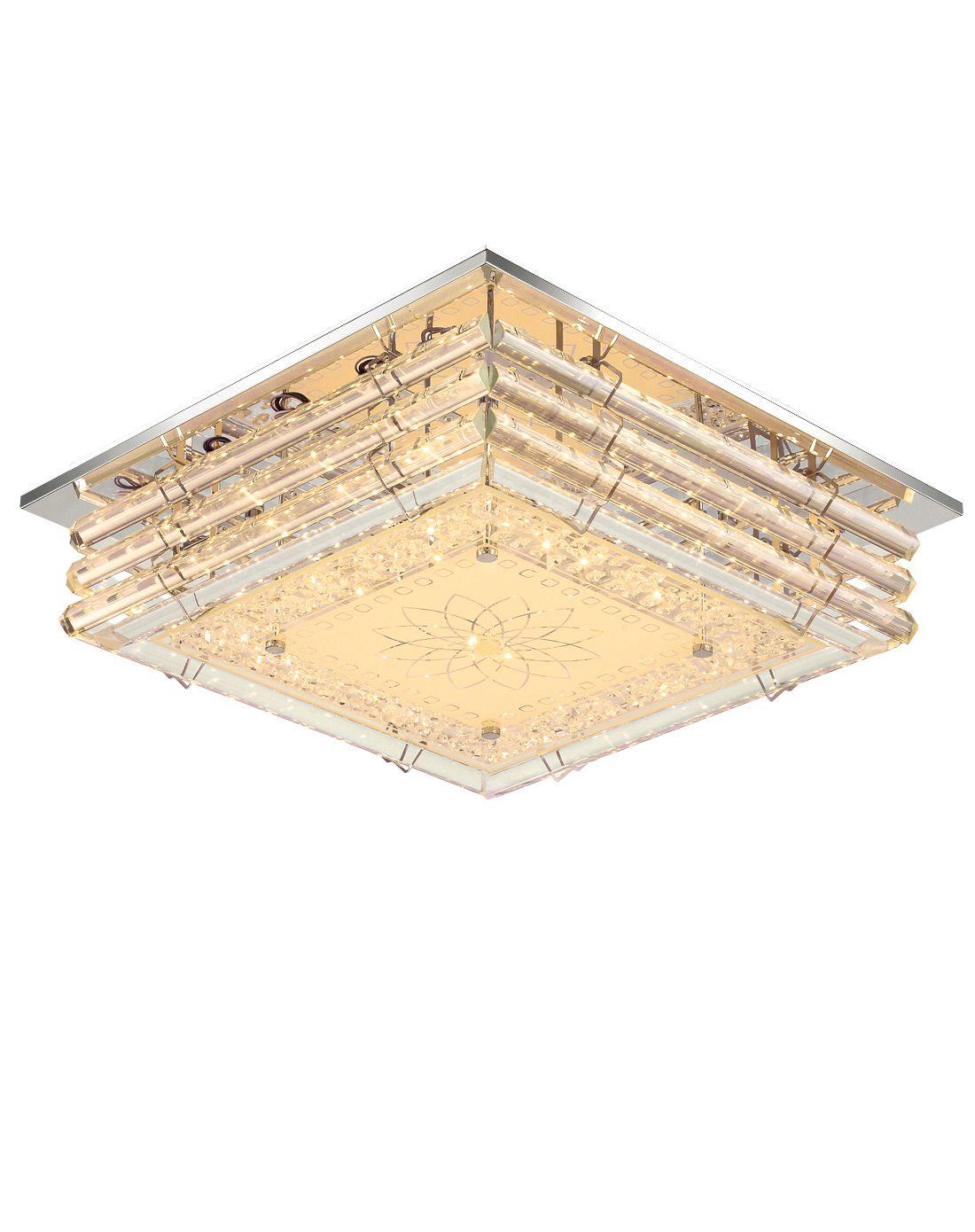 50w水晶吸顶灯分段 调光10-15平