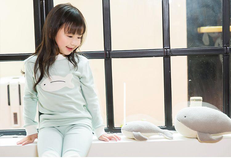 品牌名称: 顶瓜瓜 商品名称: 吐泡泡小鱼内衣套装 商品分类: 女童保暖