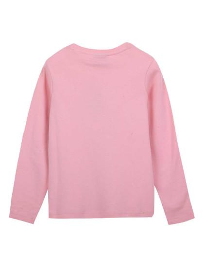 女童粉红圆领衫