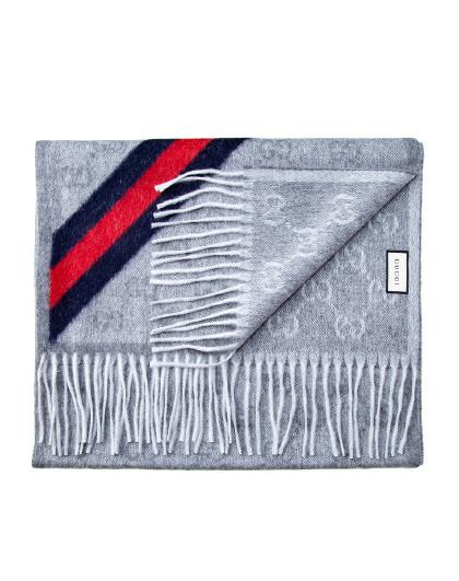 古驰GUCCI女士羊毛经典LOGO标志围巾