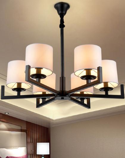 现代新中式书房圆形吊灯大厅客厅卧室餐厅led灯酒店别墅复式楼铁艺灯
