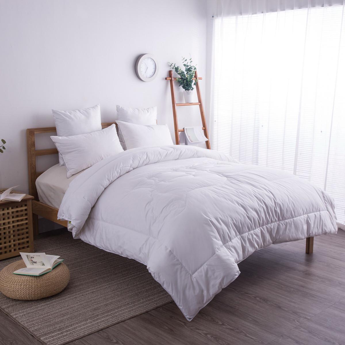 雅鹿全棉澳洲羊毛被子纯羊毛冬被加厚保暖冬季被芯纯棉被褥床上用品COLOR白色