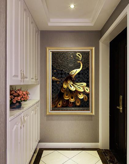 玄关过道装饰画客厅壁画卧室挂画欧式大气奢华高端单幅玄幻壁画