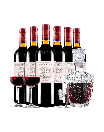 庄园2009珍酿进口红酒典藏干红葡萄酒红酒整箱醒酒器装750ml*6