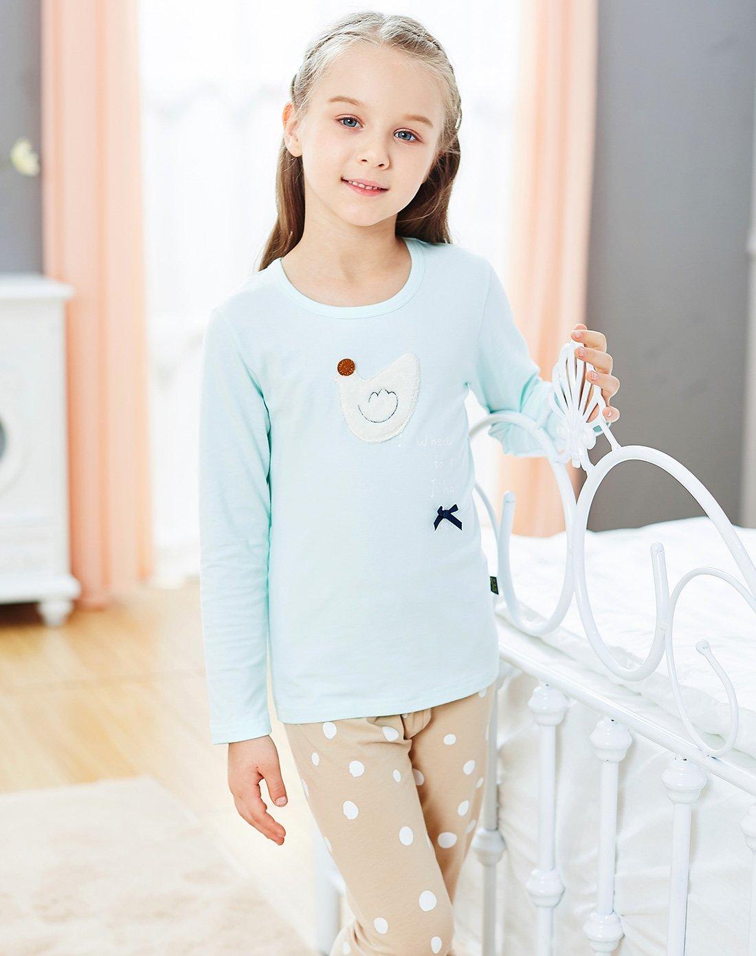 女童秋冬保暖内衣套装儿童长袖睡衣睡裤
