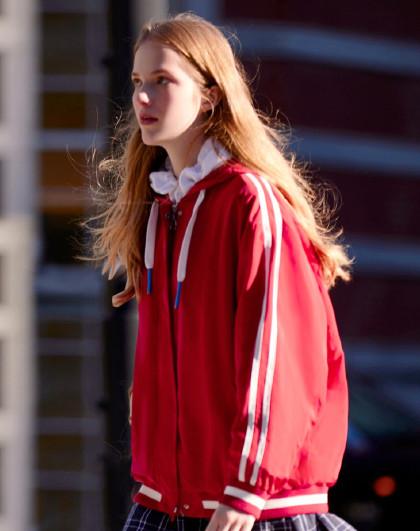 【新年系列】森马女装2019春季新款连帽显瘦学生短夹克外套女图片