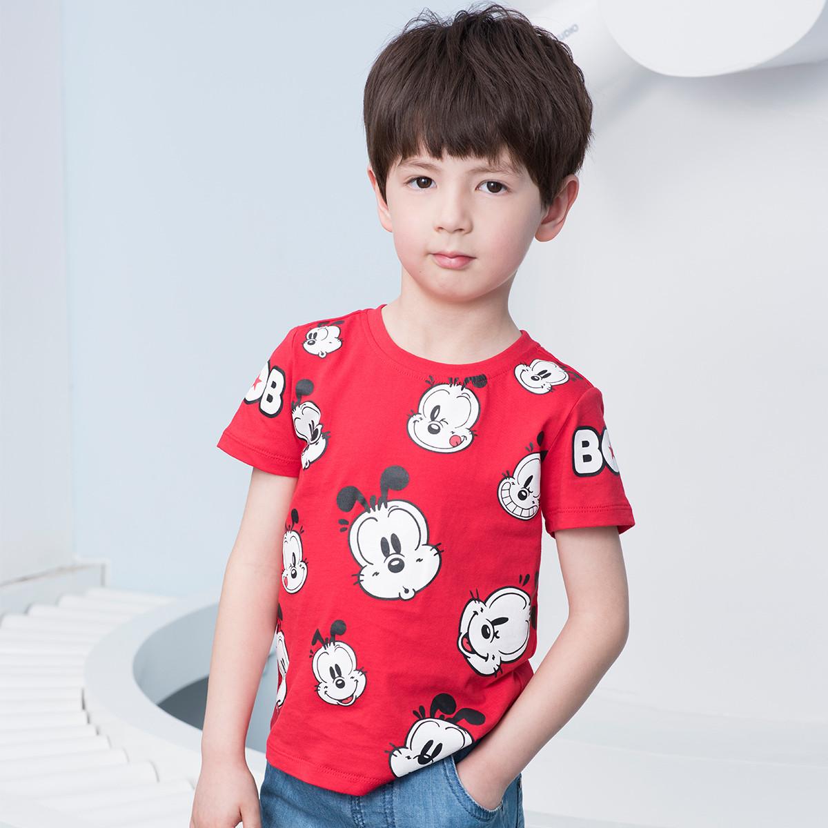 巴布豆巴布豆19新款大卡通舒适男童短袖T恤B92ZT608105