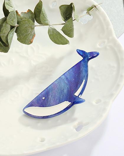 发饰 小海鲸 可爱发夹 小清新发卡 刘海夹甜美 一字夹