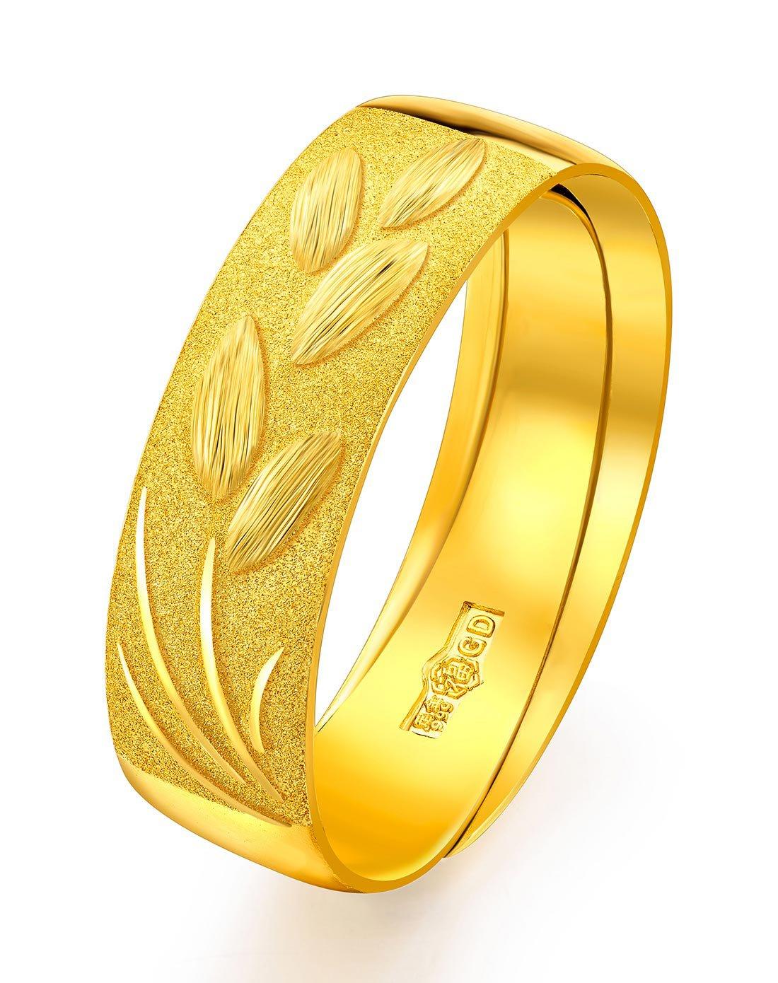 六福珠宝六福珠宝 岁岁平安麦穗足金指环戒指(计价)GDGTBR0016