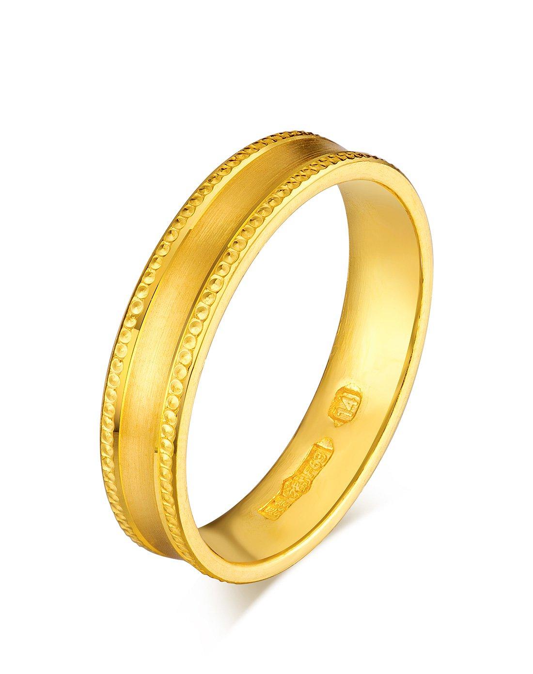 六福珠宝六福珠宝 足金简约黄金戒指情侣对戒闭口女戒 计价F63TBGR0001