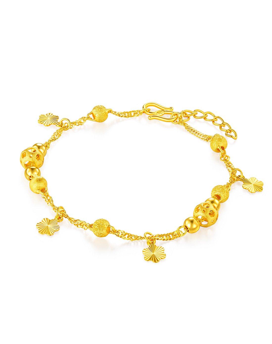 六福珠宝六福珠宝黄金手链金色梦幻女款足金手链含延长链计价L04TBGB0003