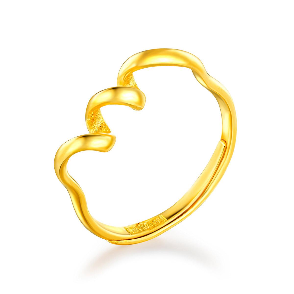六福珠宝六福珠宝 足金丝带黄金戒指女戒 (计价)L05TBGR0006