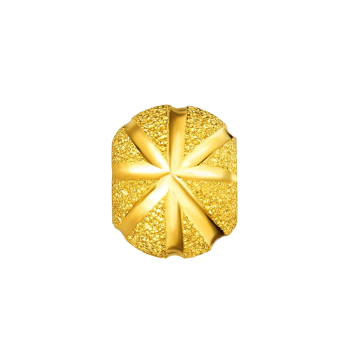 六福珠宝六福珠宝 足金圆形转运珠黄金吊坠(计价/不含链)B01TBGP0001