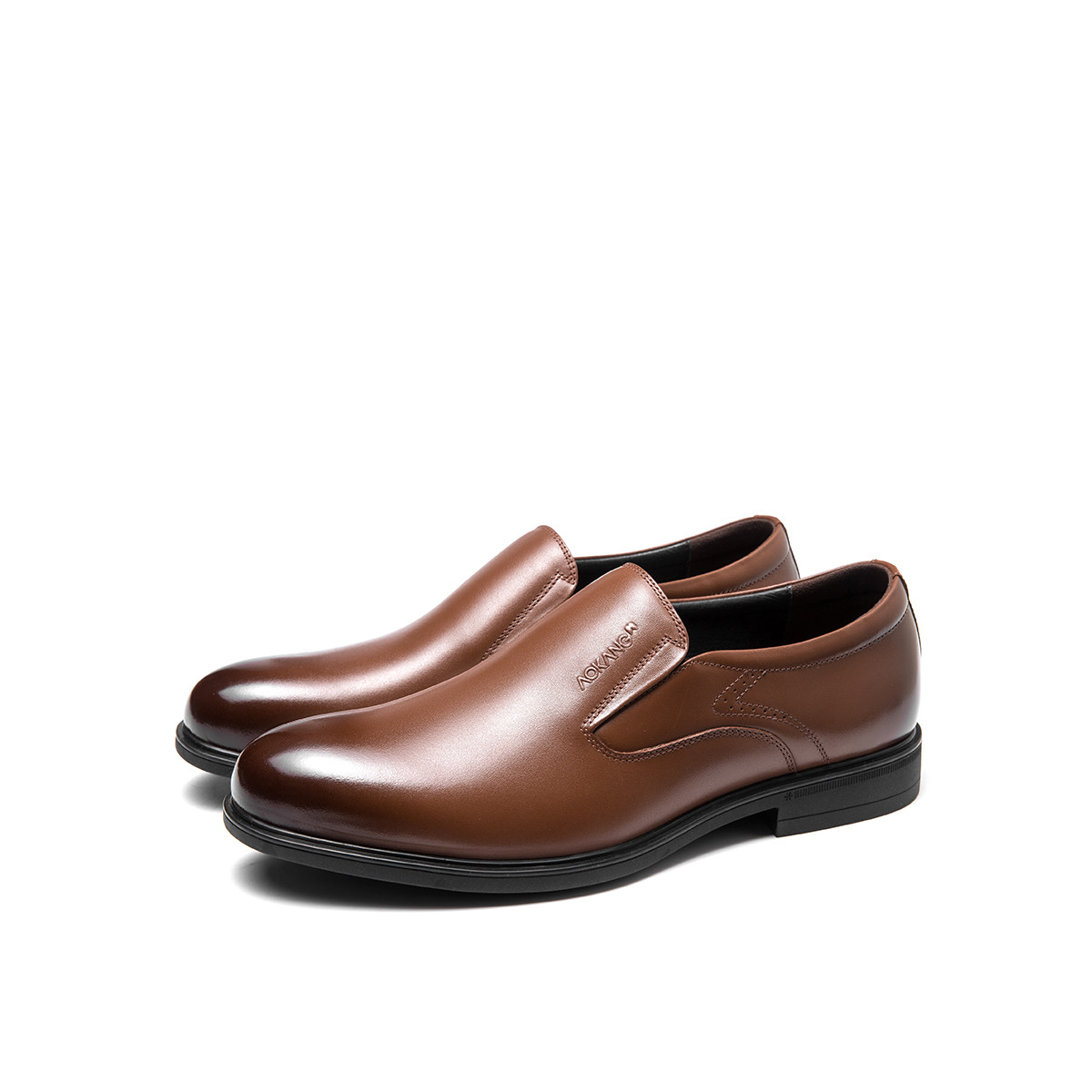 奥康奥康男鞋 2019夏季新品商务时尚套脚耐磨低跟商务休闲男鞋193111043