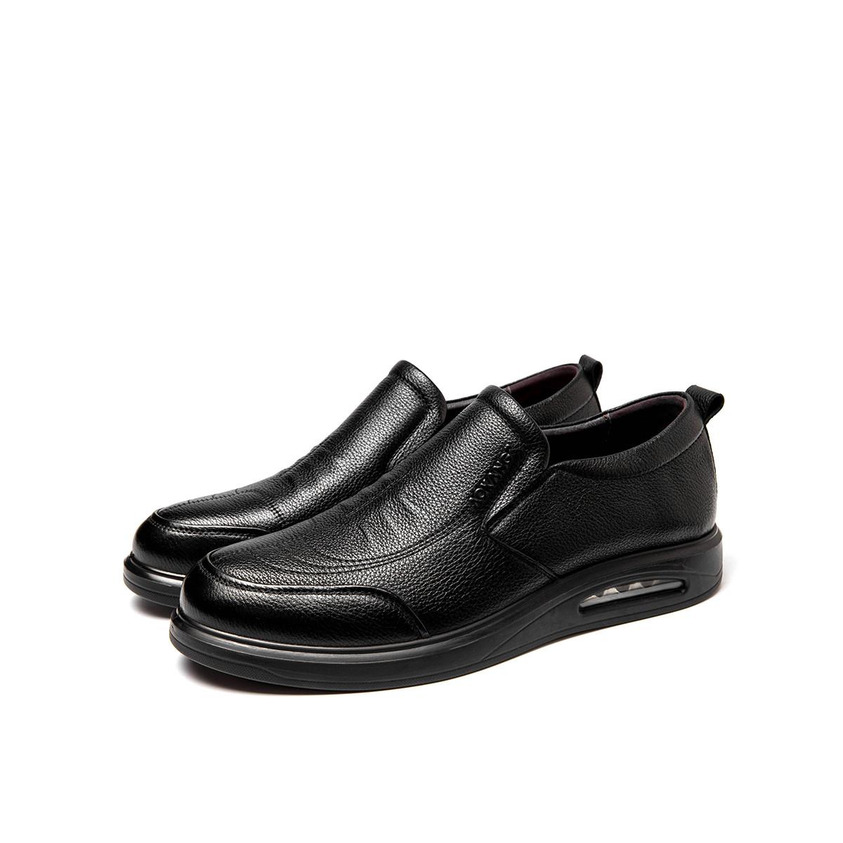 奥康奥康男鞋2019秋季新款套脚商务休闲气垫鞋底潮流男士皮鞋193212056