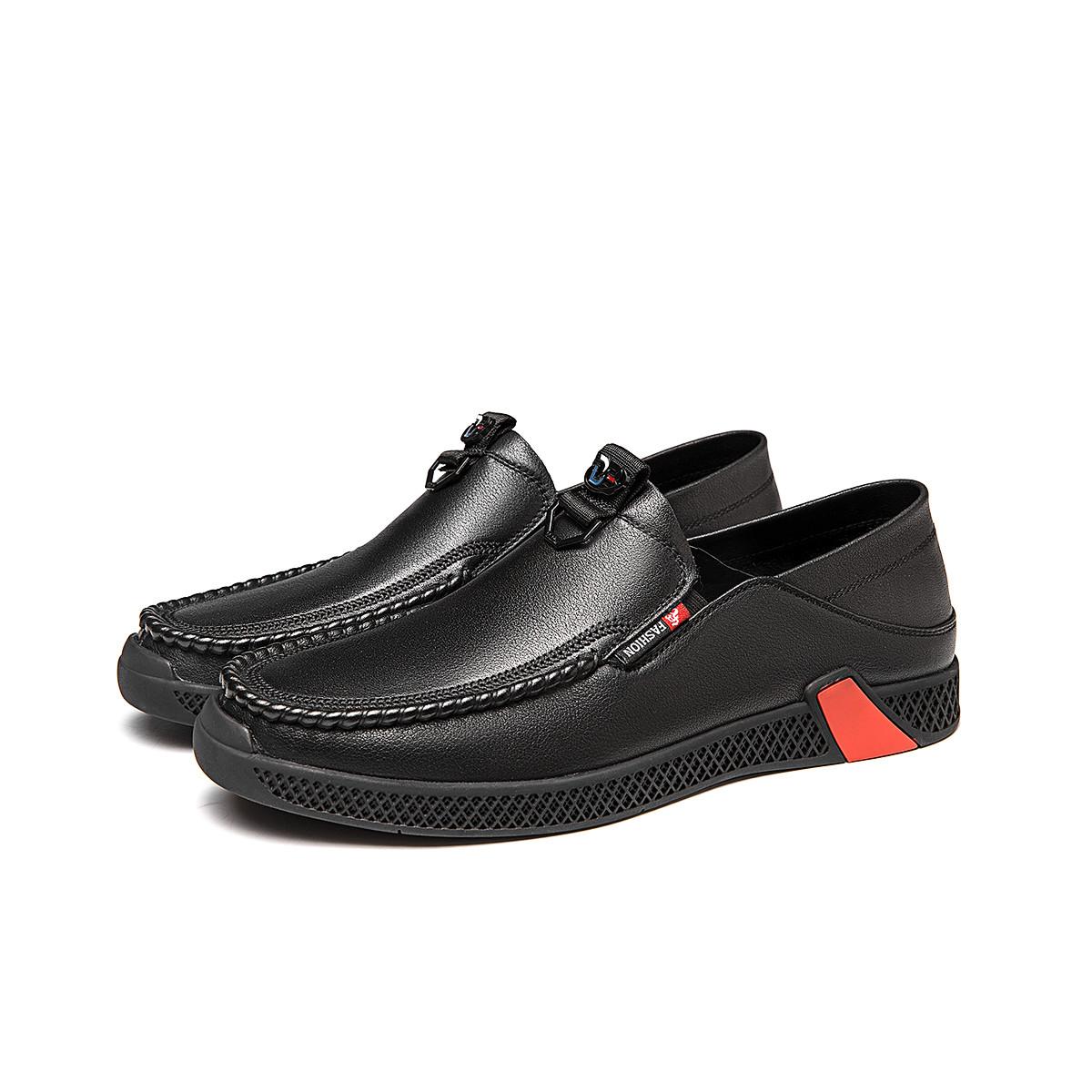 奥康奥康男鞋 2020年春季新款牛皮革套脚商务休闲男皮鞋103112025
