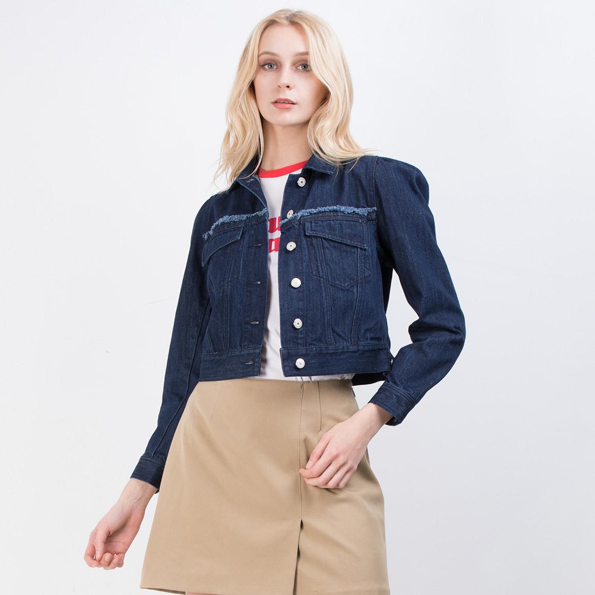 SLYSLY韩版时尚长袖牛仔外套038BSK10-0070-110