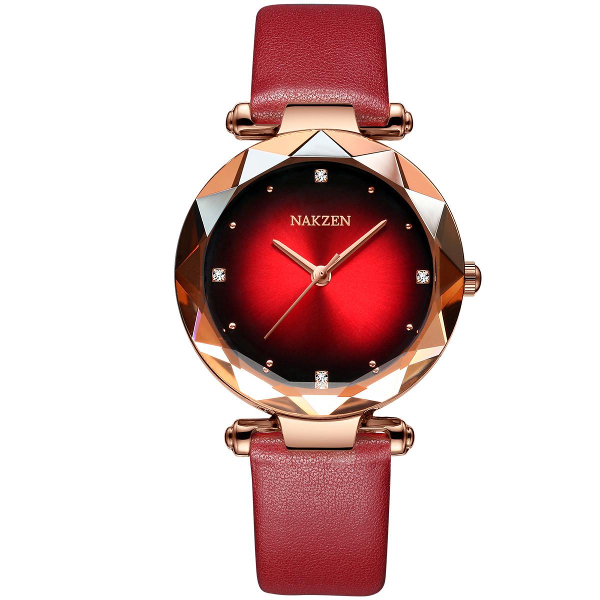 名古城NAKZEN正品进口机芯休闲时尚潮流皮带简约女士石英手表SL4210LRD-8