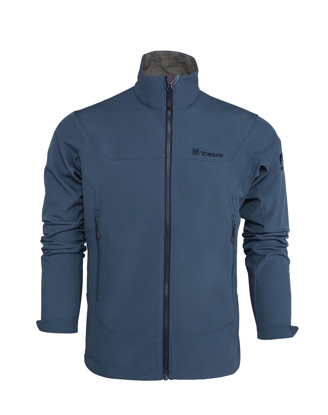 探路者防风防泼水 男款保暖内绒长袖软壳外套HAEE91071-C27X