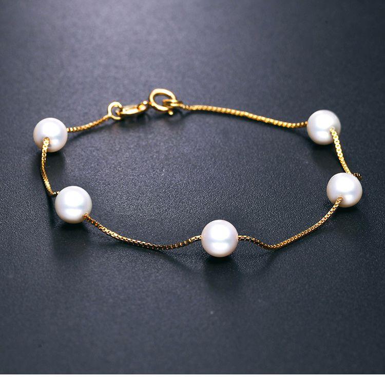 周六福满天星天然珍珠手链