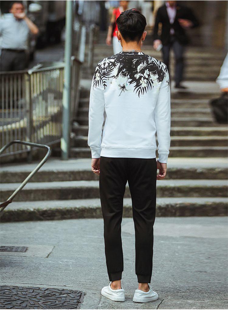 男生头像白植物