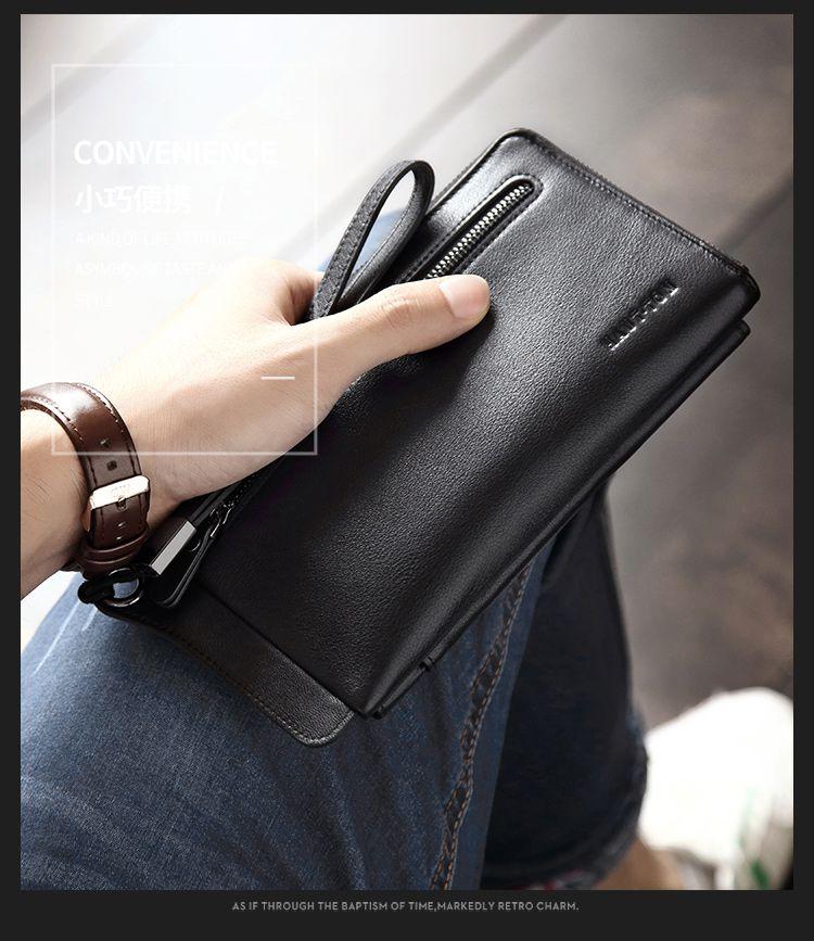 面材质: 牛皮 配件/备注: 产品结构:1个独立拉链钞票位,1个外贴拉链袋