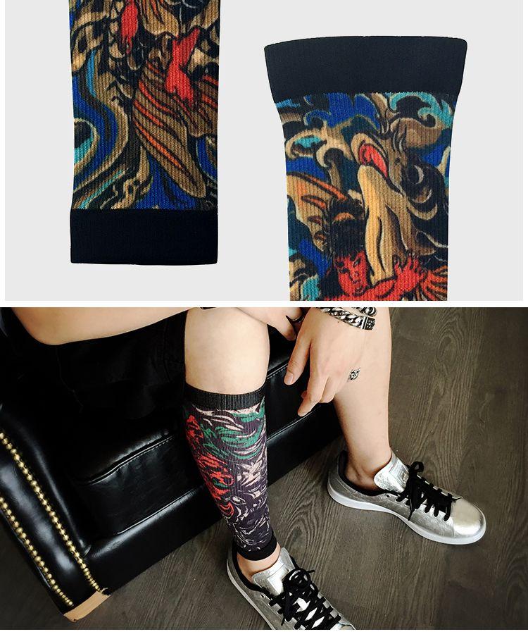 潮牌设计师 浮世绘花臂运动护袖 硬朗款